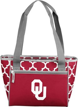 Logo University of Oklahoma Quatrefoil 16-Can Cooler Tote