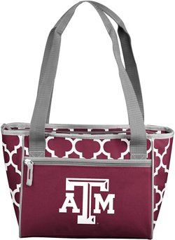 Logo Texas A&M University Quatrefoil 16-Can Cooler Tote