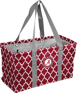 Logo University of Alabama Quatrefoil Picnic Caddy