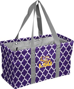 Logo Louisiana State University Quatrefoil Picnic Caddy
