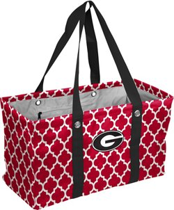 Logo University of Georgia Quatrefoil Picnic Caddy