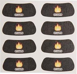 Battle Fire Emoji Eye Black Strips