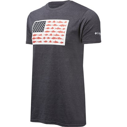 8fb37b9459a ... PFG Americana Saltwater Fish Flag T-shirt. Fishing Graphic Tees.  Hover Click to enlarge