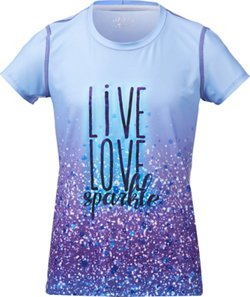 BCG Girls' Glitter Is My Signature Color Sublimation T-shirt
