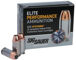 Elite Performance V-Crown Jacketed Hollow Point .38 Super +P 125-Grain Centerfire Pistol A