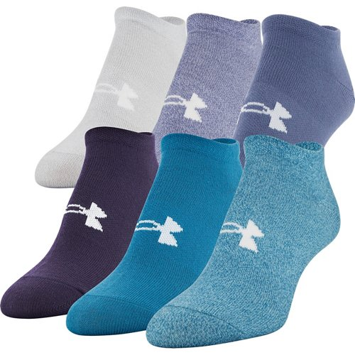 Under Armour Women's Essential Twist No-Show Socks 6 Pack