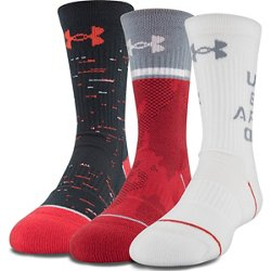 Boys' Phenom 4.0 Crew Socks 3 Pack