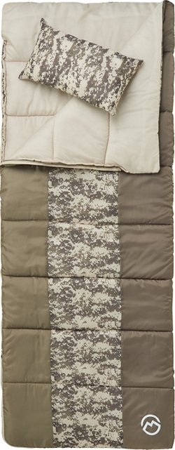 Youth Digital Camo 45 Degrees F Sleeping Bag with Pillow