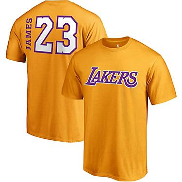 premium selection a6198 7485a LeBron James Men's Los Angeles Lakers Side Swipe T-Shirt