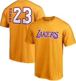 LeBron James Men's Los Angeles Lakers Side Swipe T-Shirt