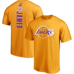 Lebron James Men's Los Angeles Lakers Backer Name and Number T-Shirt