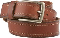 Magellan Outdoors Men's Pebble Leather Contrast Stitch Belt