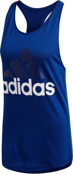adidas Women's Essentials Linear Logo Loose Tank Top