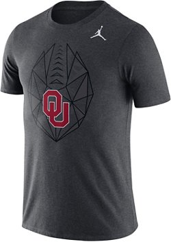 Nike Men's University of Oklahoma Football Icon Jump T-shirt