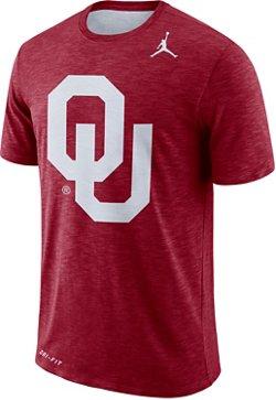 Nike Men's University of Oklahoma Jordan Dry Sideline Jump T-shirt