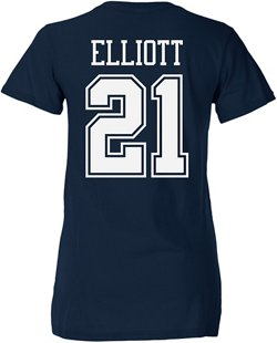 Dallas Cowboys Women's Ezekiel Elliott No. 21 T-shirt