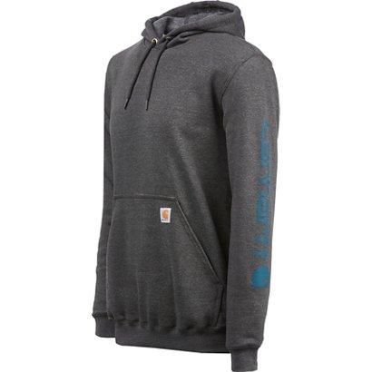 066f16ac40a Carhartt Men's Midweight Signature Sleeve Logo Hooded Sweatshirt ...