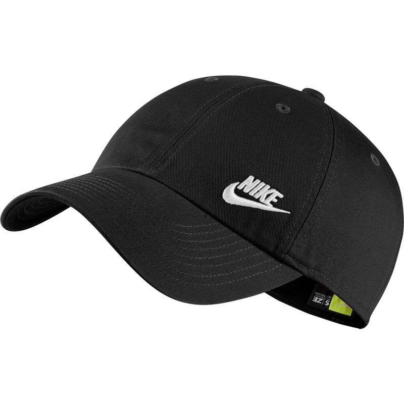 Nike Women s Sportswear Heritage86 Futura Ball Cap (Black White 03a1dab971ef