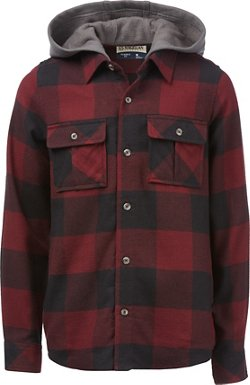 Magellan Outdoors Boys' Canyon Creek Flannel Hooded Shirt Jacket