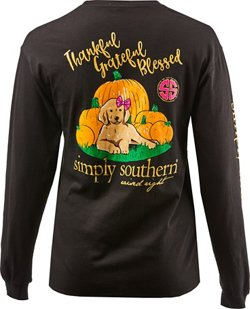 Simply Southern Women's Pumpkin Long Sleeve T-shirt