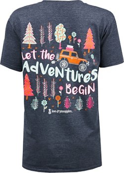 Love & Pineapples Women's Let the Adventures Begin T-shirt