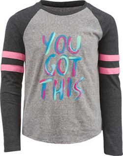 BCG Girls' You Got This Varsity Graphic T-shirt