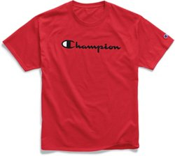Champion Men's Graphic Jersey Screen Print Script T-shirt