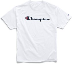 Champion Men's Graphic Jersey Screen Print Script T-shirt