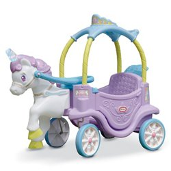 Girls' Magical Unicorn Carriage Ride-On Toy