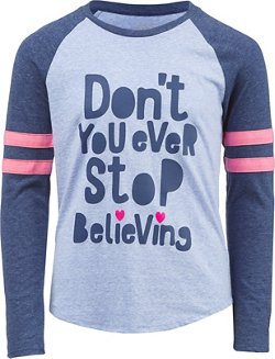BCG Girls' Don't Stop Believing Varsity T-shirt