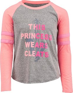 BCG Girls' This Princess Wears Cleats Varsity Graphic T-shirt