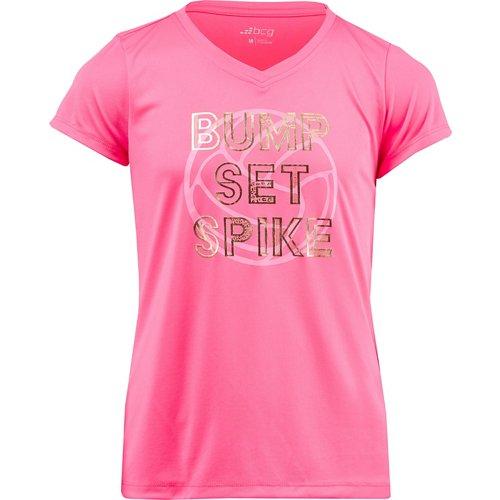 BCG Girls' Bump Set Spike Turbo T-shirt