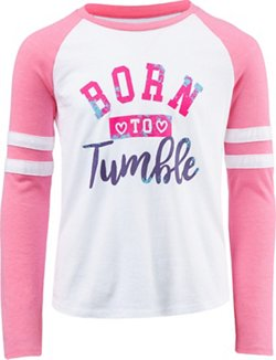 BCG Girls' Born to Tumble Varsity Graphic T-shirt