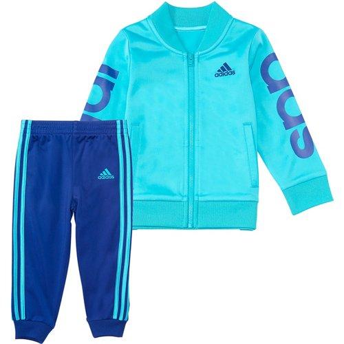 adidas Girls' Linear Jacket Set