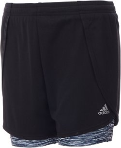 adidas Girls' 2-in-1 Mesh Shorts