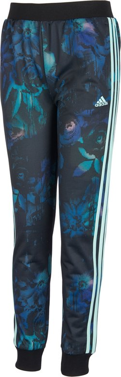 adidas Girls' Printed Tricot Jogger Pants