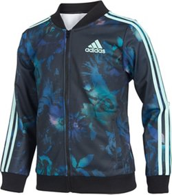 adidas Girls' Floral Bomber Jacket