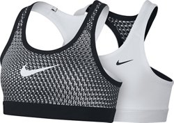 Nike Girls' Pro Classic Reversible Printed Low Support Sports Bra