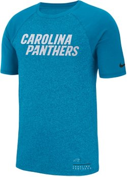Nike Men's Carolina Panthers Marled Wordmark Raglan T-shirt