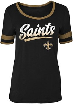 5th & Ocean Clothing Women's New Orleans Saints Scoop Neck T-shirt