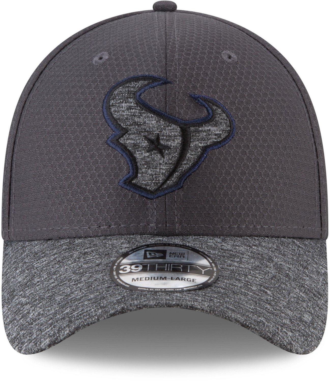 c33d1345 New Era Men's Houston Texans 39THIRTY Popped Shadow Cap