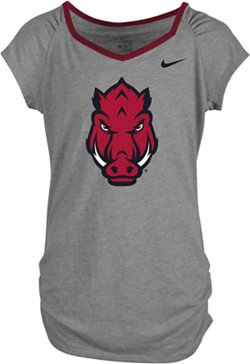 Nike Girls' University of Arkansas Raglan T-shirt