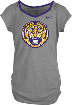 Nike Girls' Louisiana State University Raglan T-shirt