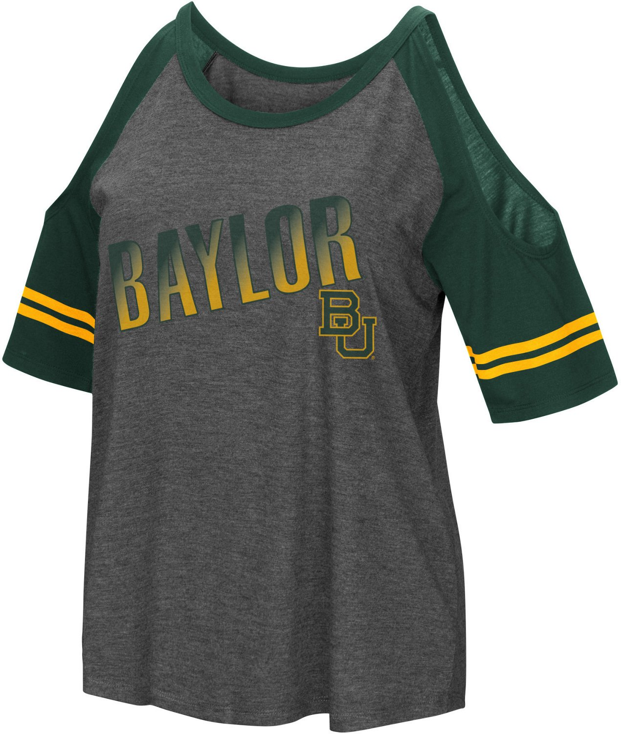 Colosseum Athletics Women's Baylor University Maguire Cold Shoulder T-shirt