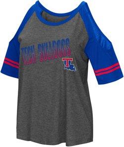 Colosseum Athletics Women's Louisiana Tech University Maguire Cold Shoulder T-shirt