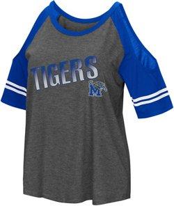 Colosseum Athletics Women's University of Memphis Maguire Cold Shoulder T-shirt