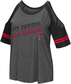 Colosseum Athletics Women's Texas Tech University Cold Shoulder T-shirt