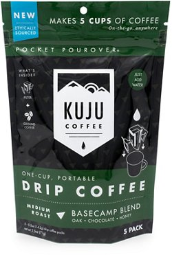 Kuju Coffee Basecamp Blend Pocket Pour Packets 5-Pack