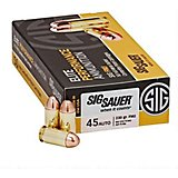 SIG SAUER Elite Performance Ball Full Metal Jacket .45 ACP 230-Grain Centerfire Handgun Ammunition