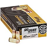 SIG SAUER Elite Performance Ball Full Metal Jacket .40 S&W 180-Grain Centerfire Handgun Ammunition